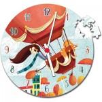 Clementoni-23038 Puzzle Horloge - Montgolfière