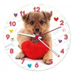 Clementoni-23039 Puzzle Horloge - Puppy