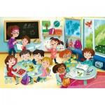 Puzzle  Clementoni-23732 Pièces XXL - A l'Ecole