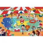 Puzzle  Clementoni-23733 Pièces XXL - Au Cirque