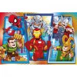 Puzzle  Clementoni-23746 Pièces XXL - Marvel Super Hero Avengers
