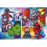 Puzzle  Clementoni-24208 Pièces XXL - Marvel Super Heroes
