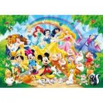 Clementoni-24473 Puzzle Géant de Sol - Disney Family
