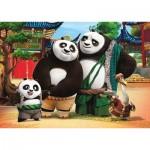 Clementoni-24475 Puzzle Géant de Sol - Kung Fu Panda 3