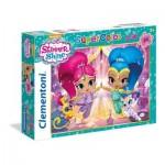 Puzzle  Clementoni-24486 Pièces XXL - Shimmer & Shine
