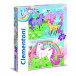 Clementoni-24754 2 Puzzles - I Believe in Unicorns