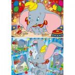 Clementoni-24756 2 Puzzles - Dumbo
