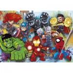 Puzzle  Clementoni-24769 Marvel Superhero - 2x20 + 2x60 Pièces