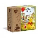 Clementoni-24772 2 Puzzles - Winnie l'Ourson