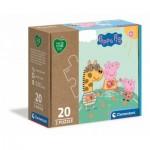 Clementoni-24783 2 Puzzles - Peppa Pig