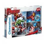 Clementoni-25203 3 Puzzles - Avengers
