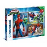 Clementoni-25217 3 Puzzles - Spider-Man