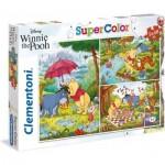 Clementoni-25232 3 Puzzles - Winnie l'Ourson (3x48)
