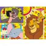Clementoni-25236 3 Puzzles - Disney Classic (3x48)