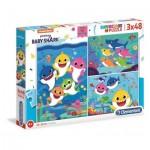 Puzzle  Clementoni-25261 Baby Shark (3x48 Pièces)