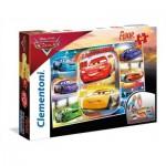 Clementoni-25455 Puzzle Géant de Sol - Cars