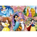 Clementoni-25463 Puzzle Géant de Sol - Disney Princess