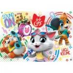 Puzzle  Clementoni-25466 Pièces XXL - 44 Cats
