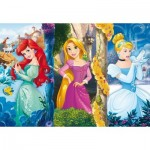 Puzzle  Clementoni-26416 Pièces XXL - Disney Princess