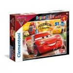 Puzzle  Clementoni-26424 Pièces XXL - Cars 3