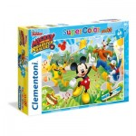 Puzzle  Clementoni-26433 Pièces XXL - Mickey and the Roaster Racers