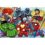 Puzzle  Clementoni-26454 Pièces XXL - Marvel Super Heroes