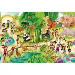 Puzzle  Clementoni-28505 Pièces XXL - Zoo