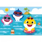 Puzzle  Clementoni-28519 Pièces XXL - Baby Shark