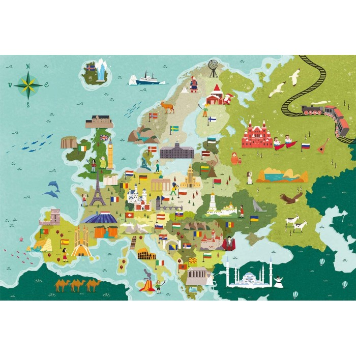 Exploring Maps : Europe - Monuments