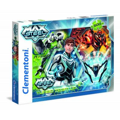 Puzzle Clementoni-30442 Turbo Team-up Max Steel