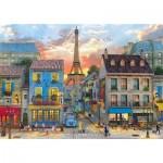 Puzzle  Clementoni-31679 Dominic Davison - Rue des Paris
