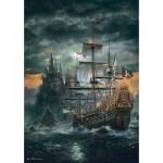 Puzzle  Clementoni-31682 Bateau de Pirates