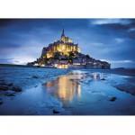 Clementoni-31994 Puzzle 1500 pièces : Le Mont Saint Michel, France