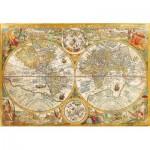 Puzzle  Clementoni-32557 Vieille Carte du Monde
