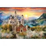 Puzzle  Clementoni-32559 Neuschwanstein, Allemagne