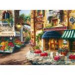Puzzle  Clementoni-33530 Village fleuri