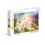 Puzzle  Clementoni-35054 Licornes au Lever du Soleil