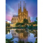 Puzzle  Clementoni-35062 Sagrada Familia, Barcelone