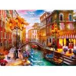 Puzzle  Clementoni-35063 Coucher de Soleil sur Venise
