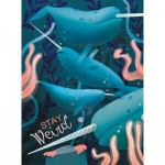 Puzzle  Clementoni-35070 Narval - Fantastic Animals