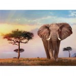 Puzzle  Clementoni-35096 African Sunset