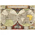 Puzzle  Clementoni-36526 Antique Nautical Map