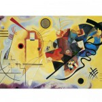 Puzzle  Clementoni-39195 Kandinsky : Jaune - Rouge - Bleu