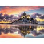 Puzzle  Clementoni-39367 Mont Saint-Michel