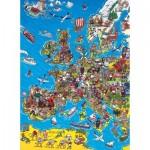 Puzzle  Clementoni-39384 Carte de l'Europe