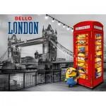 Clementoni-39412 Puzzle Métallisé - Minions à Londres