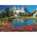 Puzzle  Clementoni-39459 Col Pordoi, Dolomites, Italie