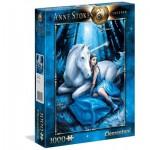 Puzzle  Clementoni-39462 Anne Stokes - Lune Bleue