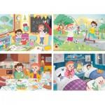 4 Puzzles - Une Belle Journée (2x20, 2x60 Pièces)