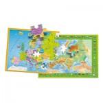 Puzzle  Clementoni-50020 Carte de l'Europe
